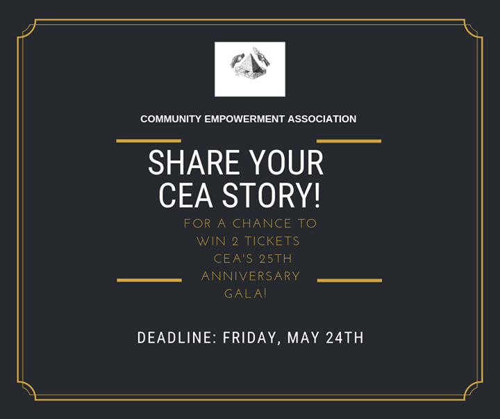 WIN 2 TICKETS TO CEA's 25th Anniversary Fundraiser Gala! Here's how: 1. Record a…